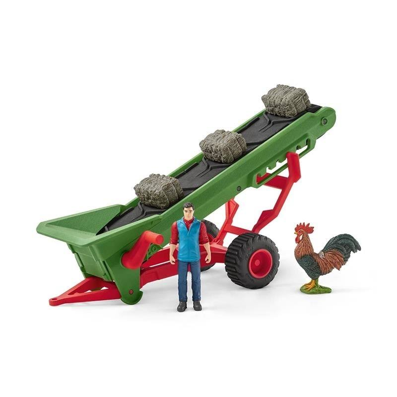 Schleich Hay Conveyor Playset - with Farmer