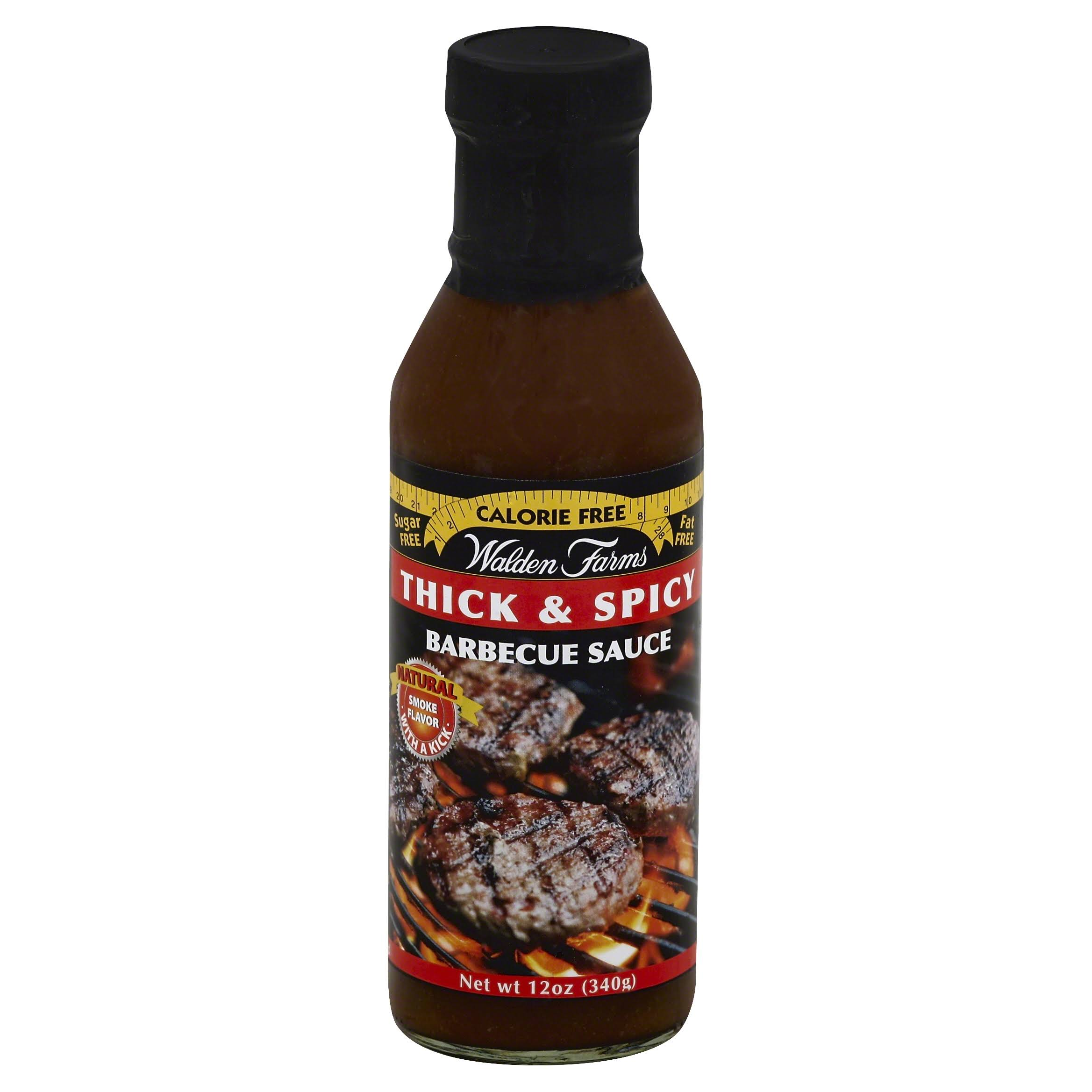 Walden Farms Barbecue Sauce, Thick & Spicy - 12 oz