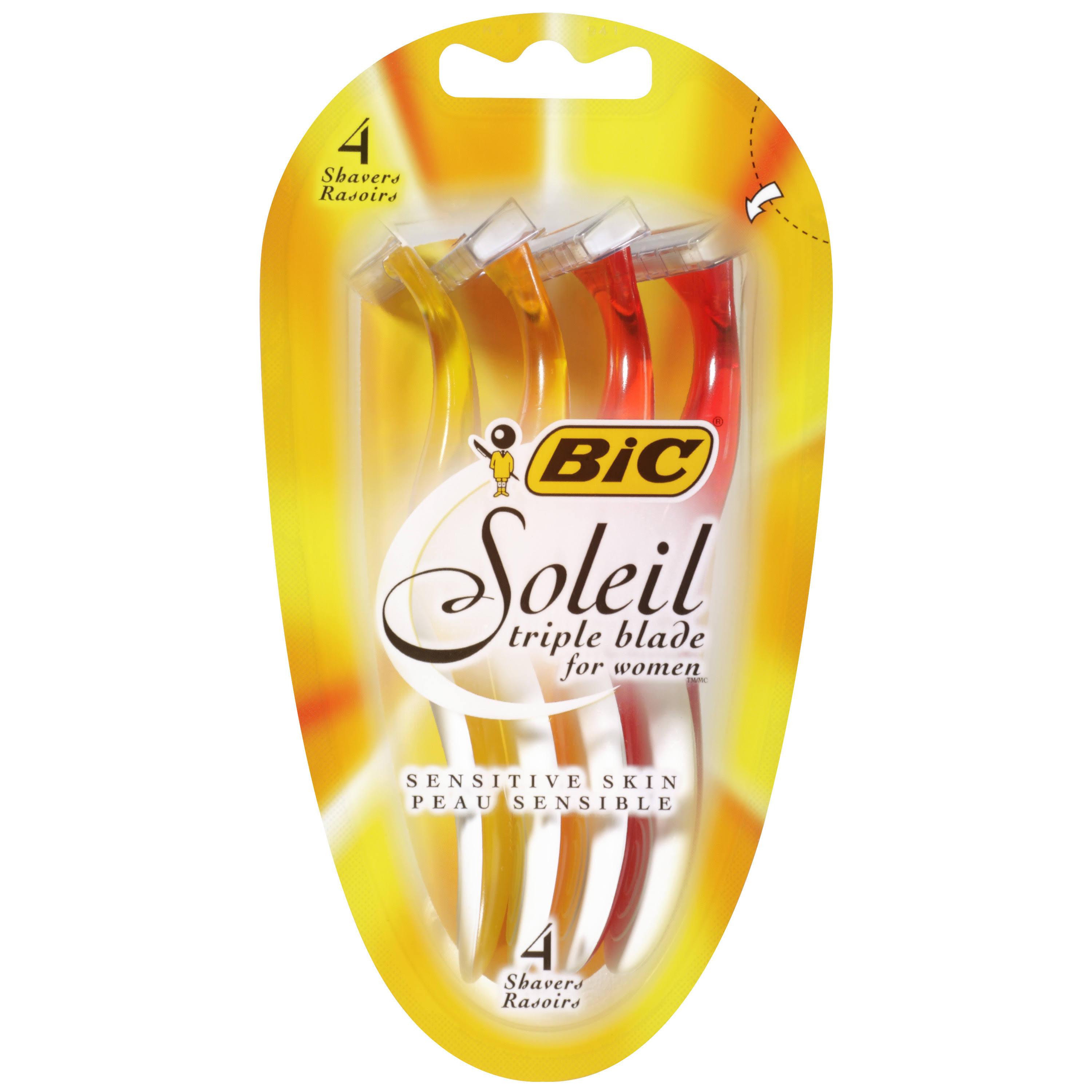 Bic Soleil 3 Blades Razor - 4ct, Disposable
