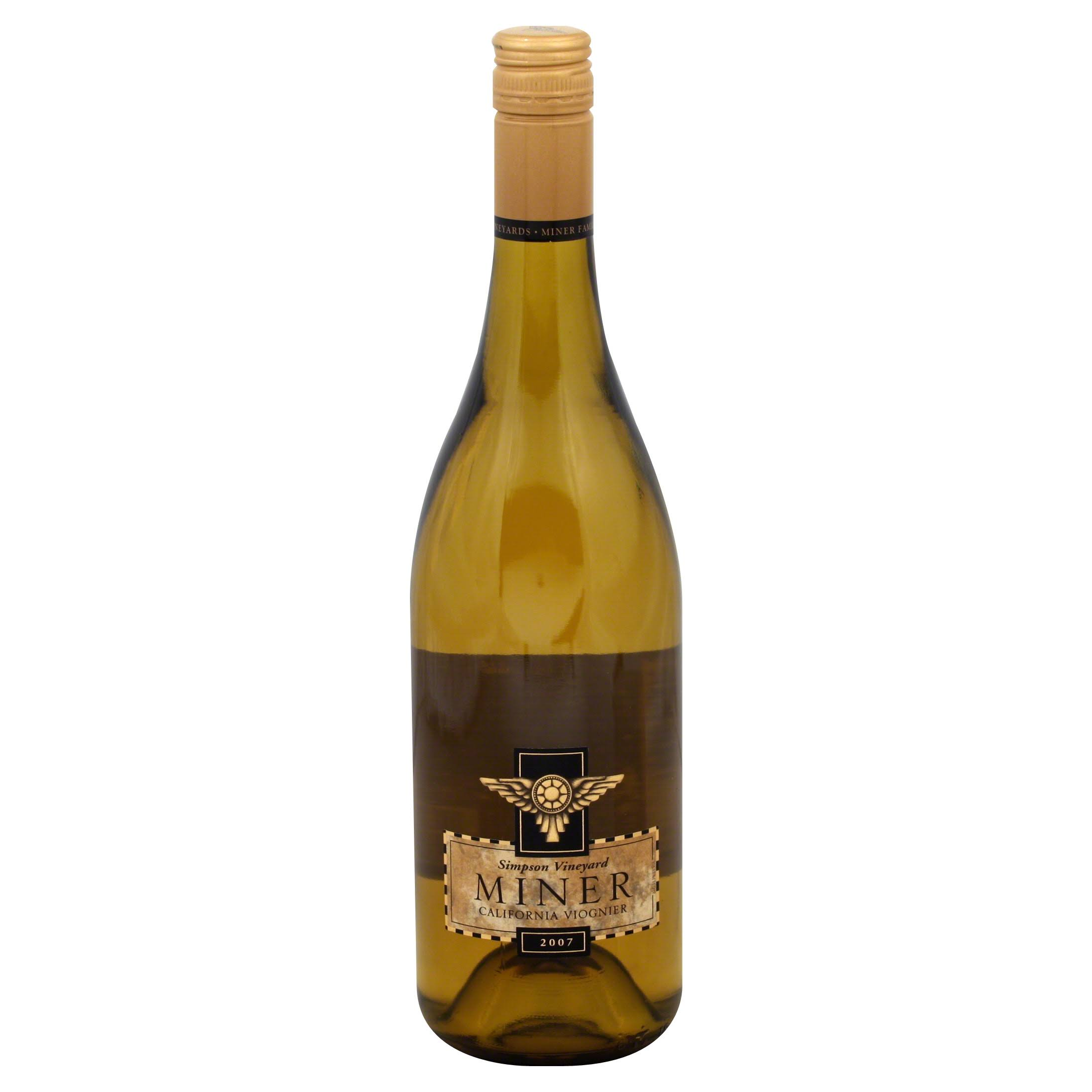Miner Simpson Vineyard Viognier, California, 2007 - 750 ml
