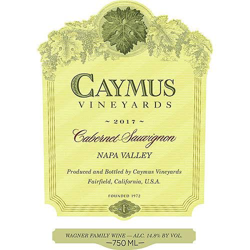 Cawy Cabernet Sauvignon, Napa Valley, 2015 - 375 ml
