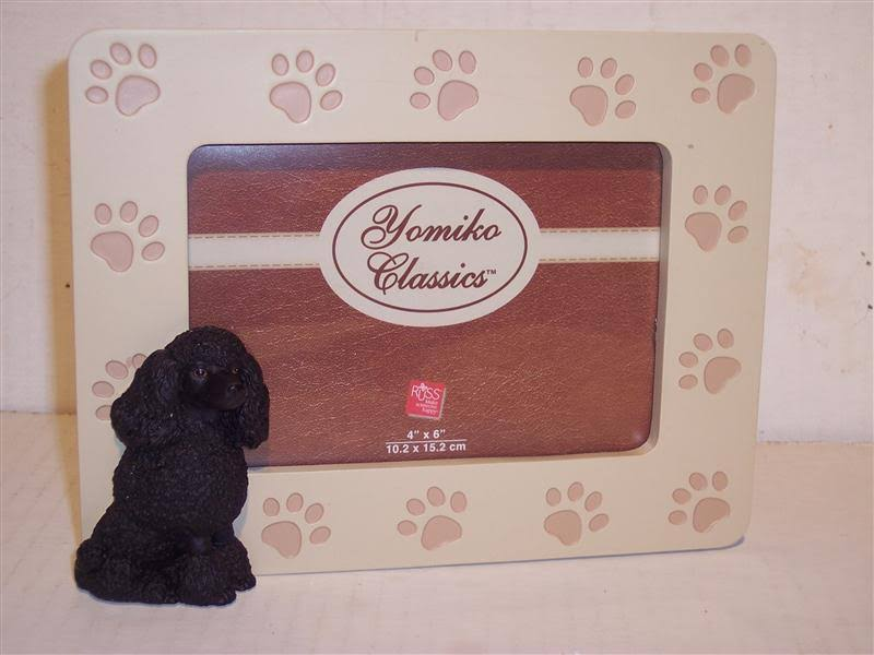 Black Poodle by Russ Berrie - 4x6