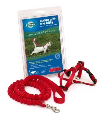 PetSafe Come With Me Kitty Harness and Bungee Leash - Red, Small