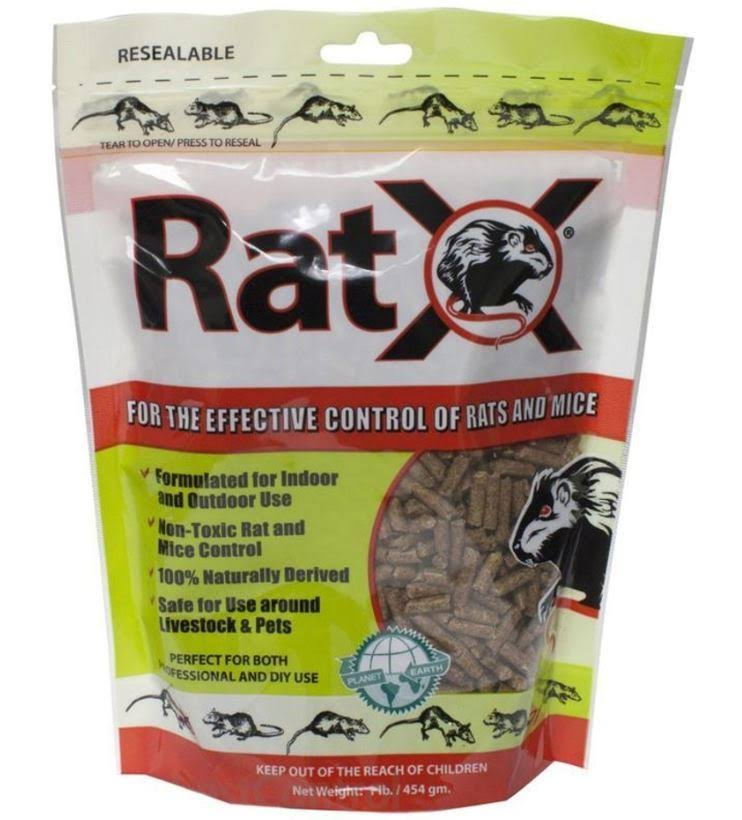 Ecoclear Products Ratx All-Natural Non-Toxic Rat and Mouse Killer Pellets - 8oz