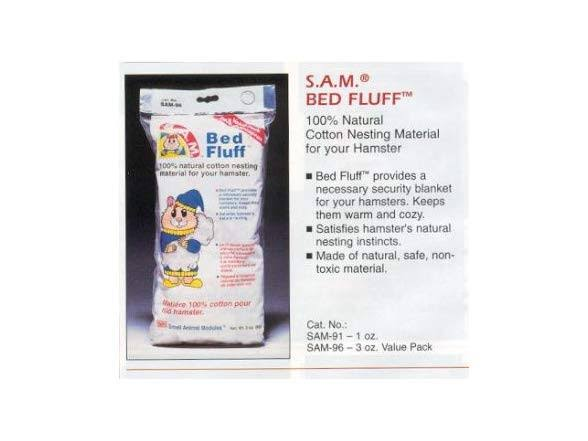 Penn Plax Bed Fluff for Small Animals 3-Ounce