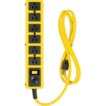 Woods Coleman Cable Power Strip - Metal, Yellow Jacket
