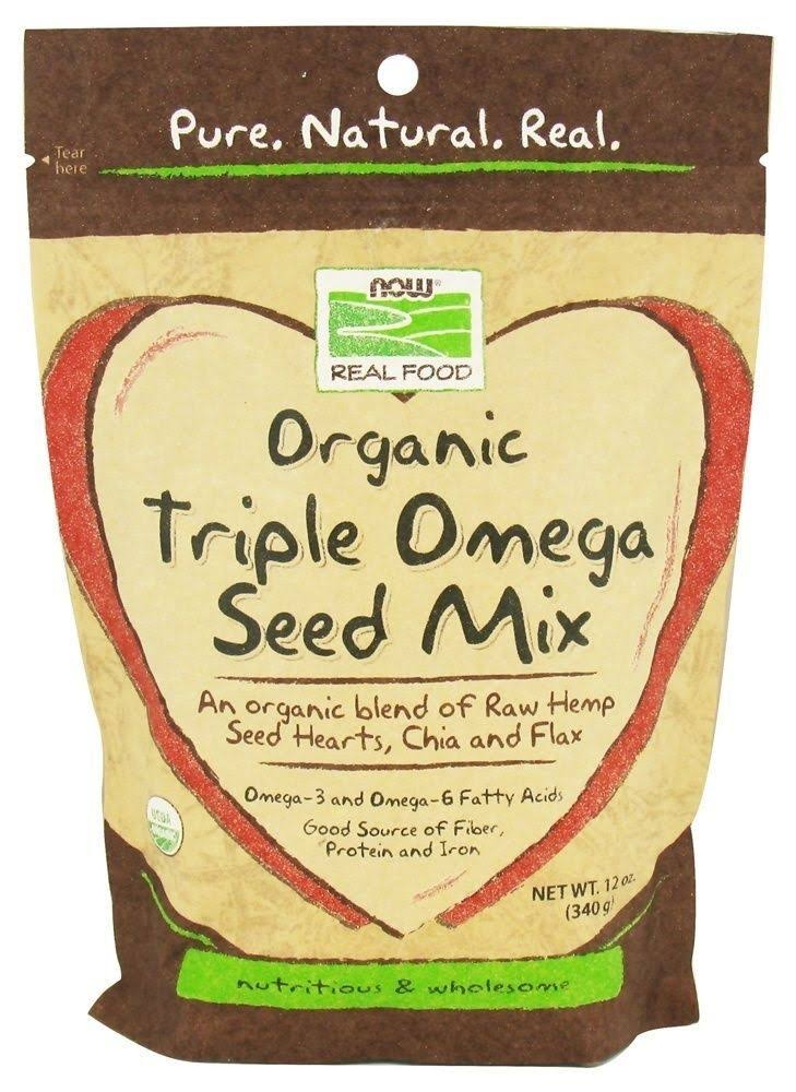 Now Foods Organic Triple Omega Seed Mix - 340g