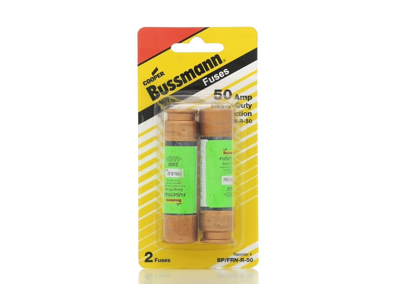 Bussmann Fusetron Dual Element Time Delay Current Limiting Class RK5 Fuse - 250V, 50 Amp, 2 Pack