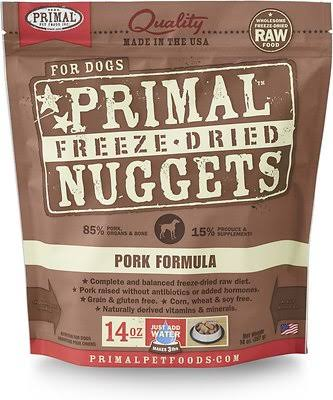 Primal Freeze Dried Nuggets Pork Formula Dog Food - 14 oz.