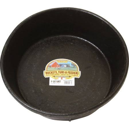 Miller Manufacturing Hp8 Rubber Feed Pan for Dogs and Horses - 8 Quart