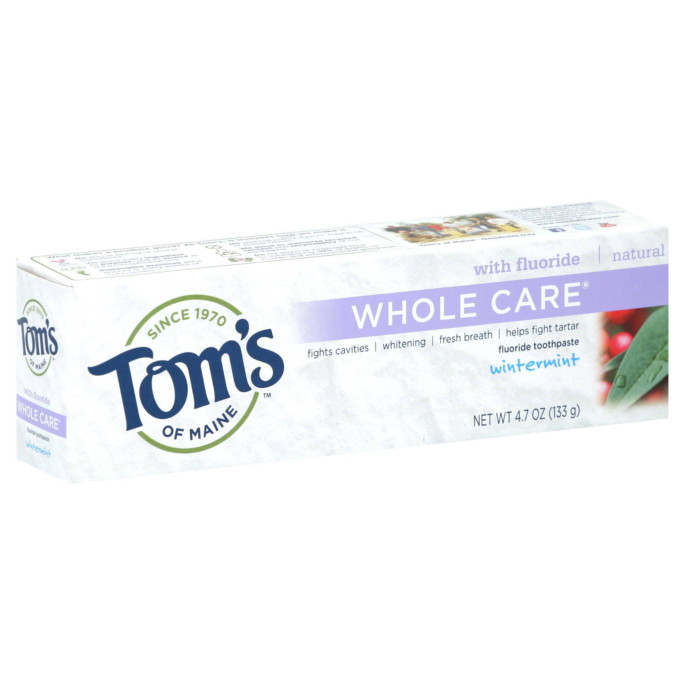 Tom's of Maine Whole Care Wintermint Fluoride Toothpaste - 4.7 oz
