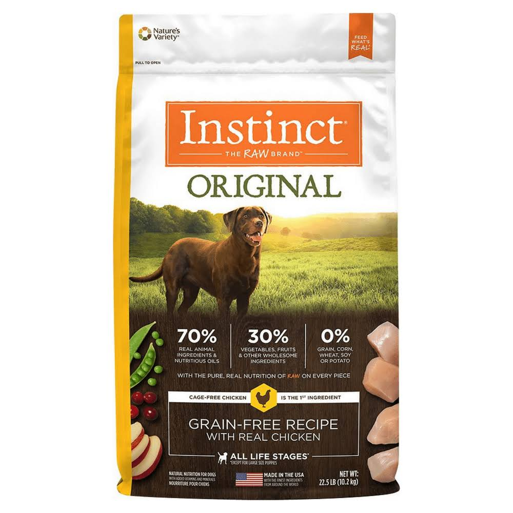 Nature's Variety Instinct Dry Dog Food - Chicken Formula, 22.5lbs