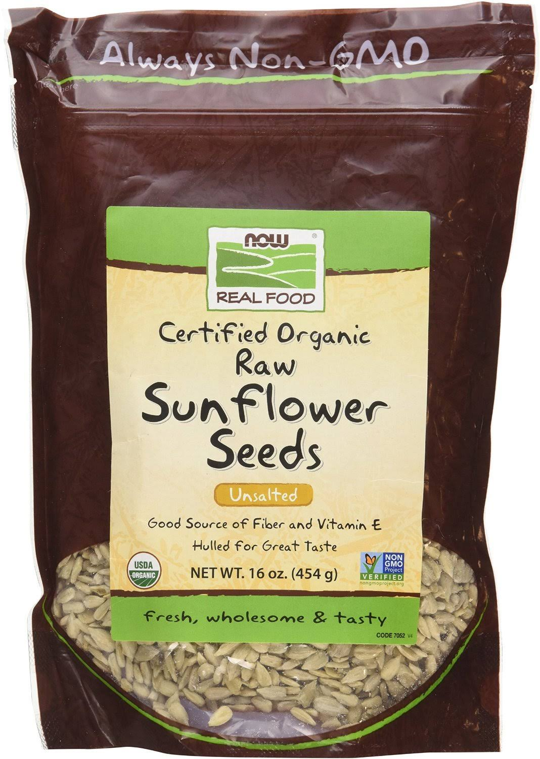 Now Foods Real Food Raw Sunflower Seeds - Unsalted, 16oz