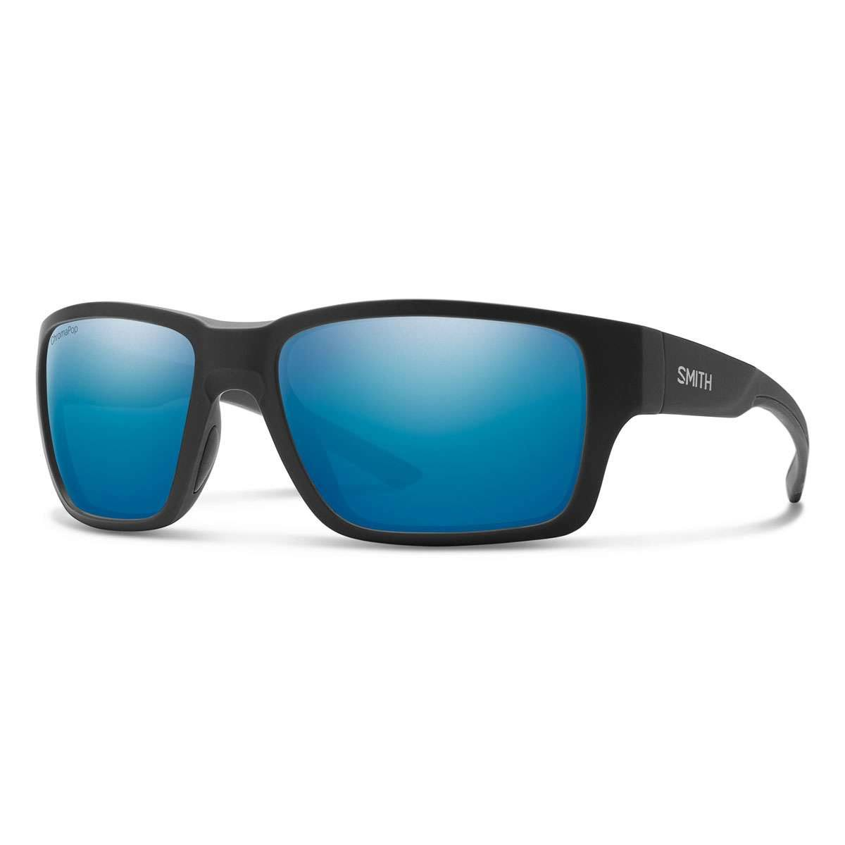 Smith Outback 0124-QG Matte Black Silver Rectangular Sunglasses