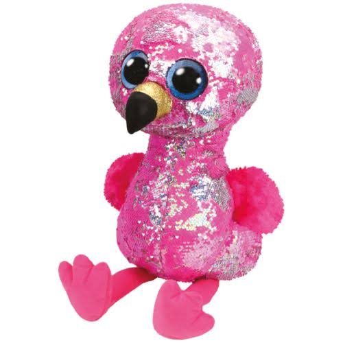 Ty Sequin Flippable Boo Plush Toy - Flamingo Pinky, 16""