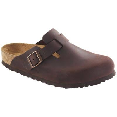 Birkenstock Unisex Boston Soft Footbed Leather Clog - Habana Oiled Leather, 36 Narrow EU