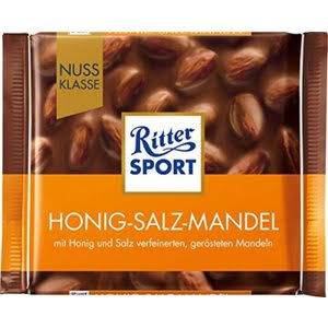 Ritter Sport Almonds - 100g, Honey Salt
