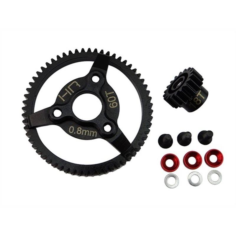 Hot Racing Steel Pinion and Spur Gear Set - 18/60T