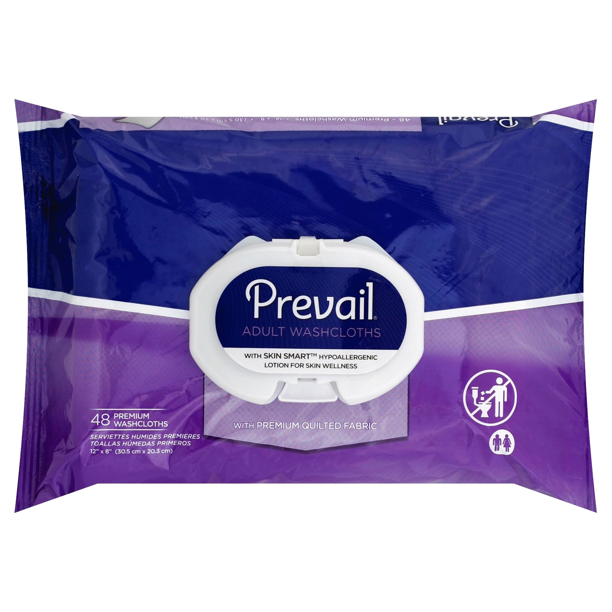 "Prevail Quilted Cleansing Wipes - 8"" x 12"""
