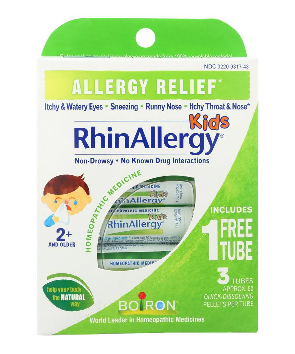 Boiron RhinAllergy Kids Pellets - 3ct