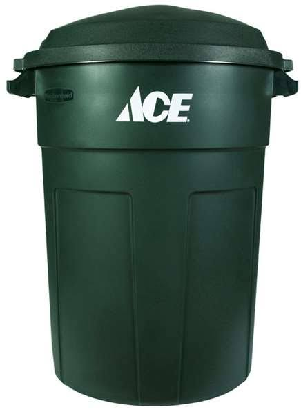 Ace Trash Can - 32 Gallon, Green