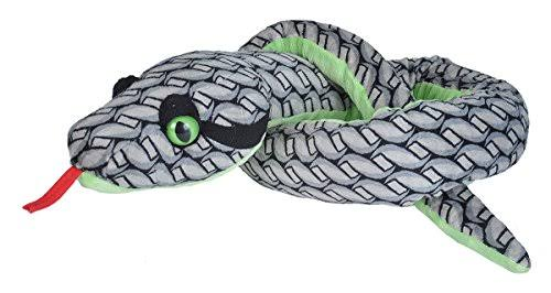 54 inch Knotted Grey Snake Plush Stuffed Animal by Wild Republic