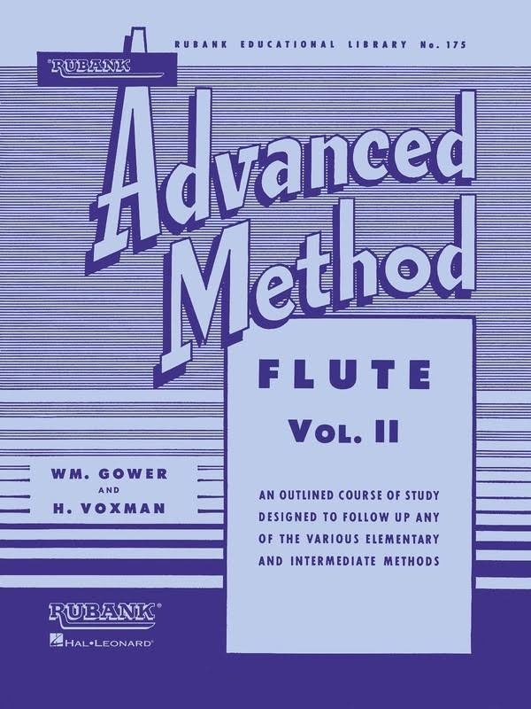Hal Leonard Rubank Advanced Method for Flute Volume 2 - Hal Leonard
