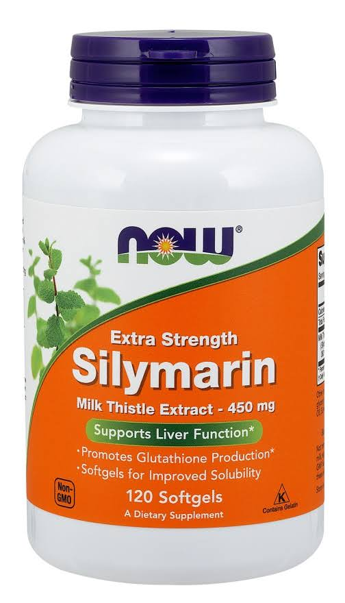 Now Extra Strength Silymarin Dietary Supplement - 120 Softgel