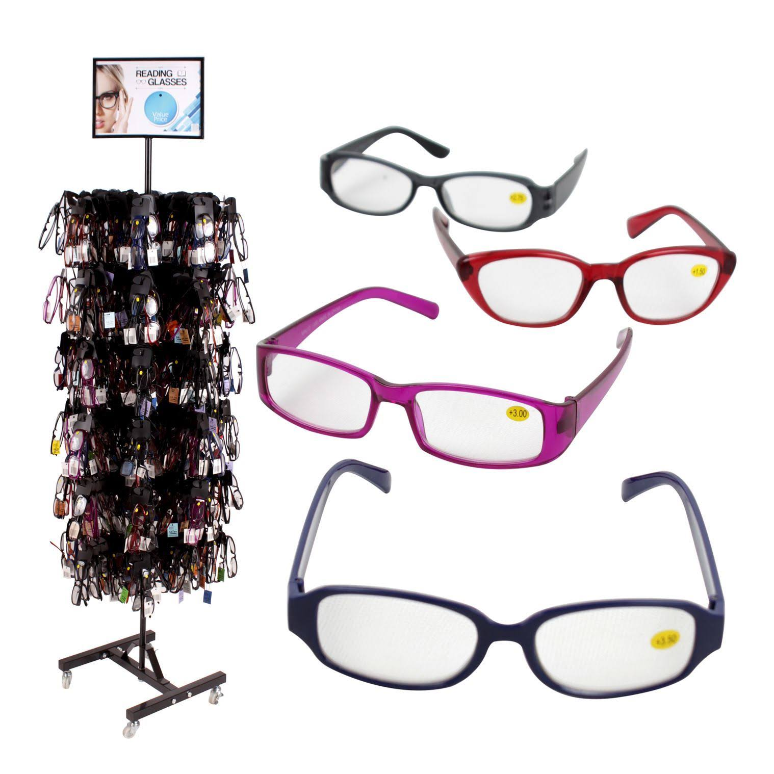 DDI Wholesale 24pcs Cheetah Reader Fashion Reading Glasses Display