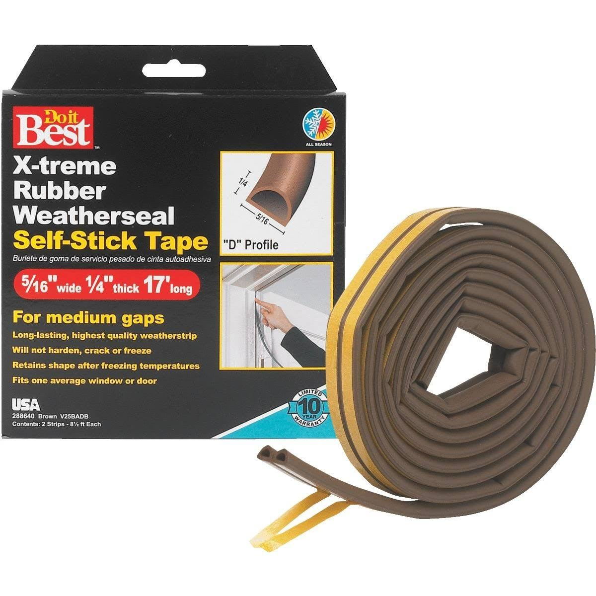 Do It Best Rubber Weatherstrip Tape - 3pk
