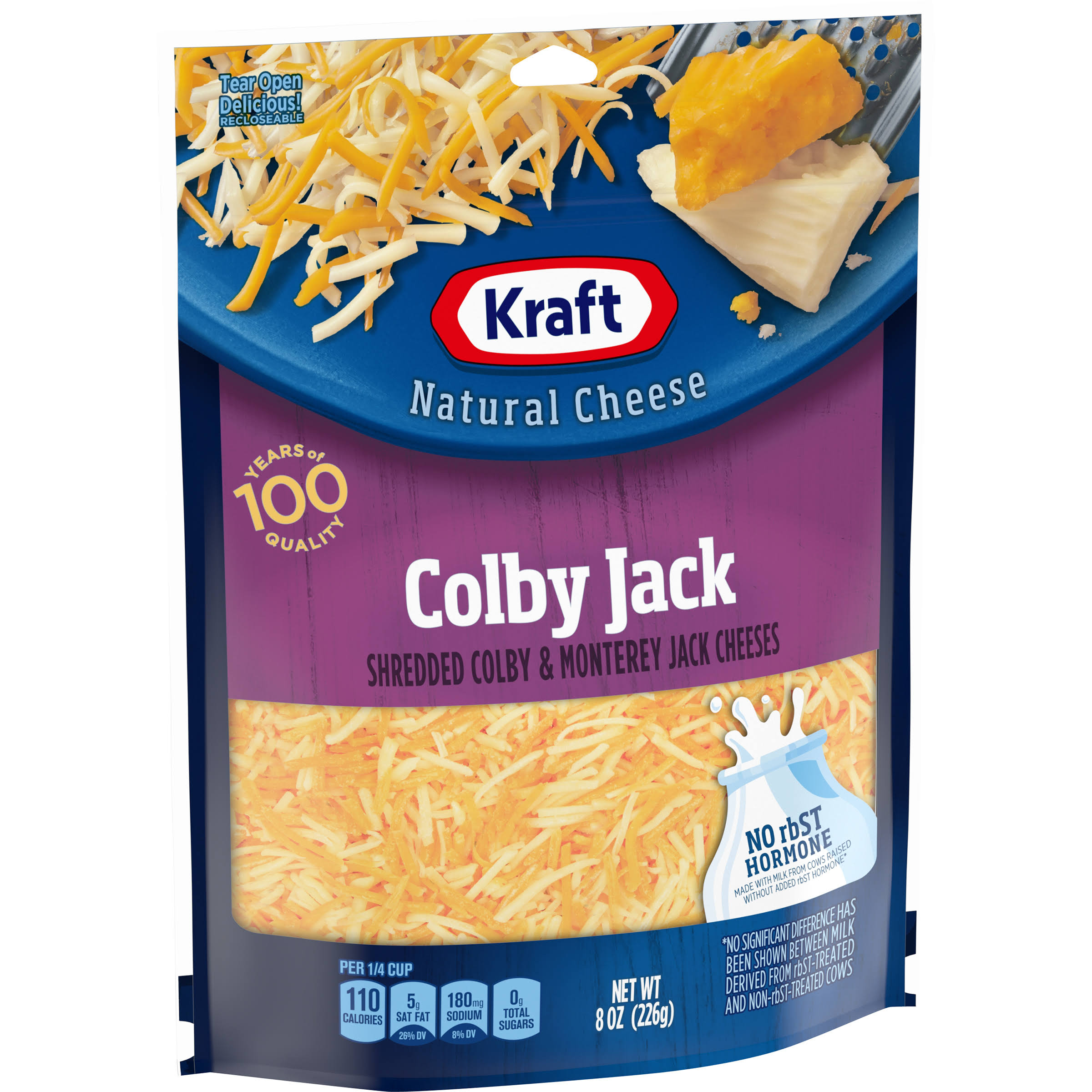 Kraft Shredded Cheese - Colby and Monterey Jack, 8oz