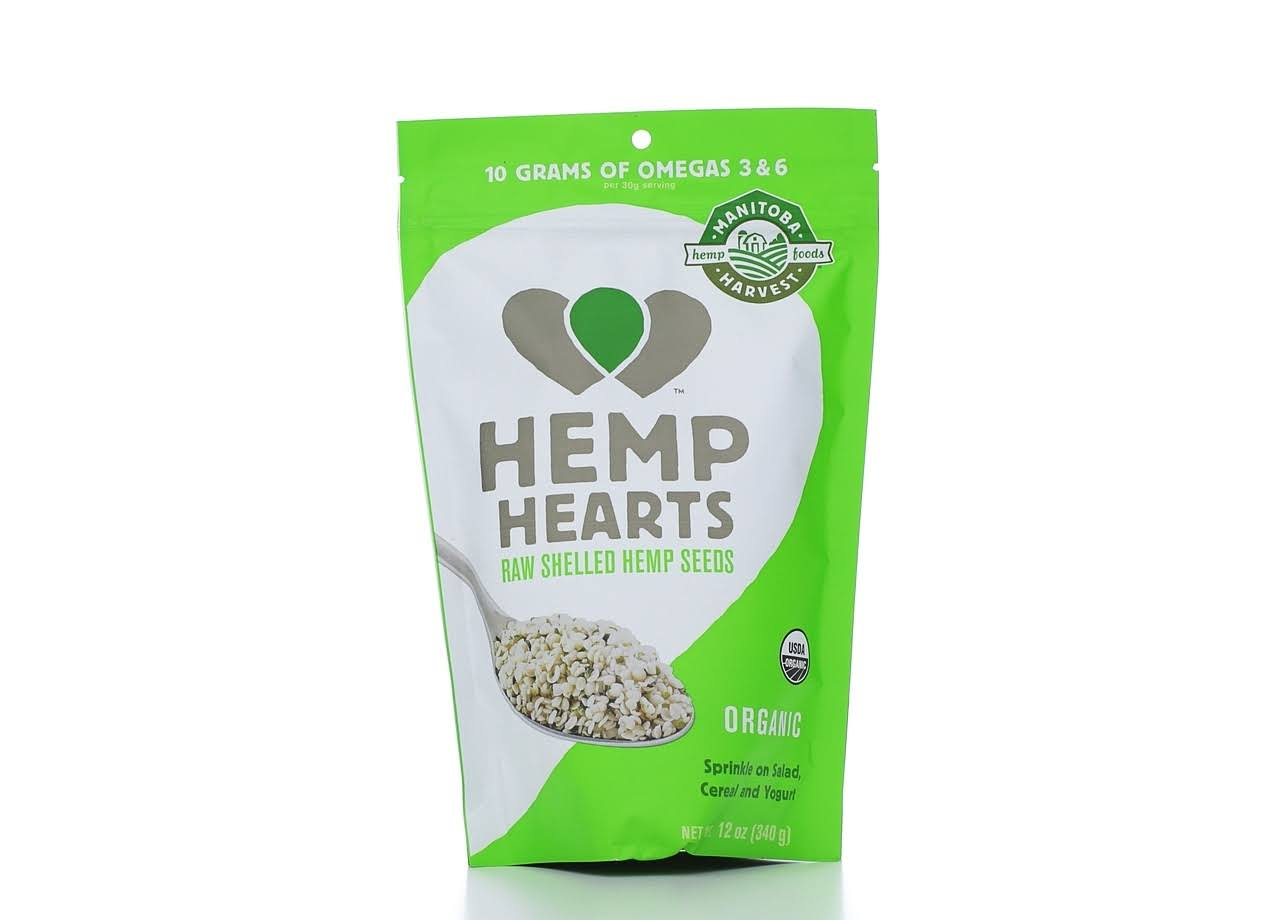 Manitoba Harvest Organic Hemp Hearts Raw Shelled Hemp Seeds - 340g