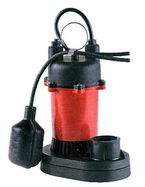 Red Lion Plastic Sump Pump - with Tethered Switch, 1/2 HP