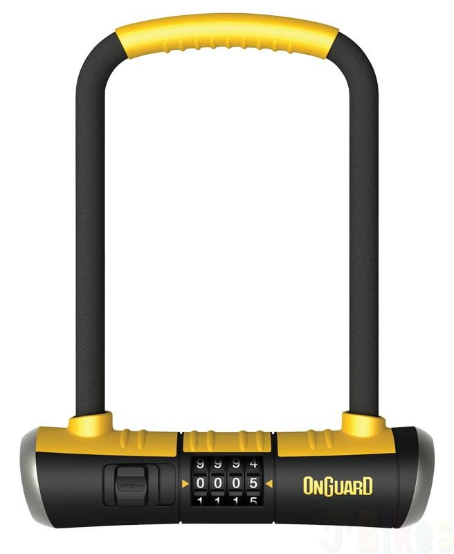 Onguard Bulldog Combo U-Lock - Black, Yellow, 4.5x9""