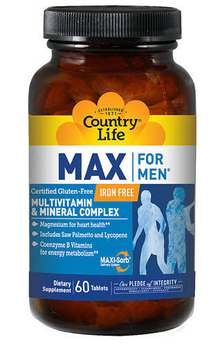 Country Life Max For Men Multi-Vitamins - 60 tablets