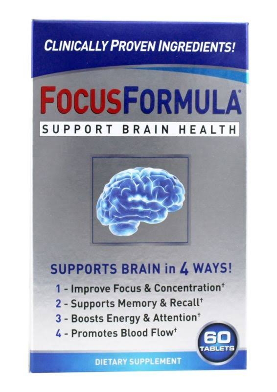 Focus Formula Support Brain Health Supplement - 60ct