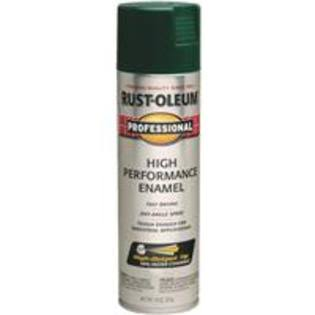 Rustoleum Professional High Performance Enamel Spray - Dark Green, 15oz