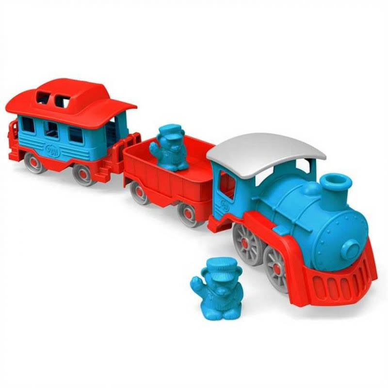 Green Toys Train - 6 Piece Set, 2 Play Figures