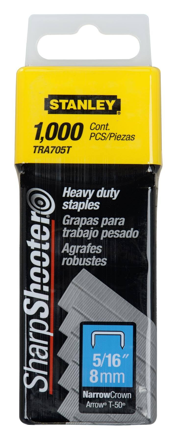 Stanley Heavy Duty Staples - Pack of 1000, 5/16""