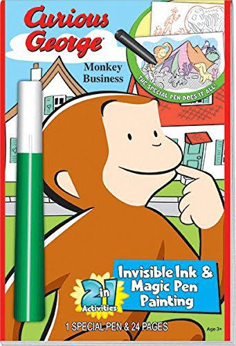 Universal Curious George Monkey Business 2 in 1 Invisible Ink & Magic Pen Painting
