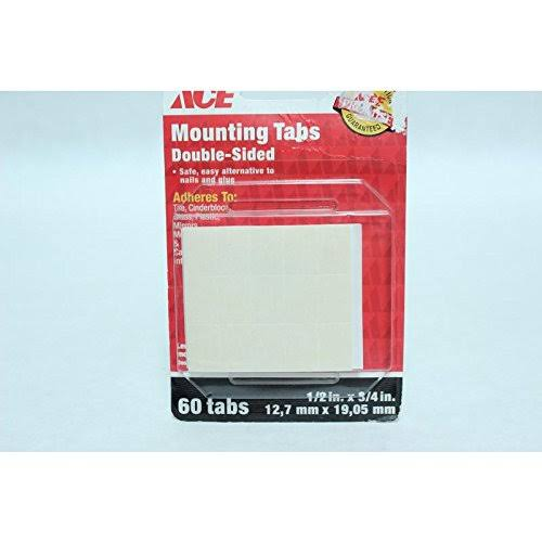 Ace 1/2 in. W x 3/4 in. L Double Sided Mounting Tabs White