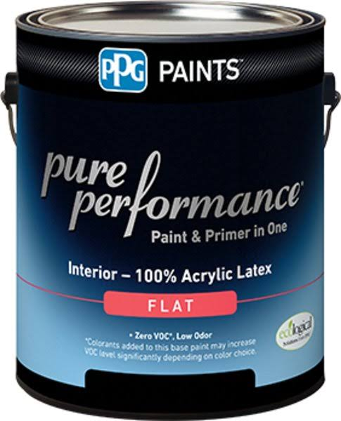 PPG Architectural Coatings Paint,int Flat Pastel Base,qt