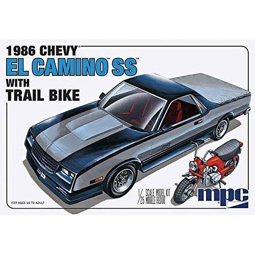 MPC 1986 Chevrolet El Camnio SS W Trail Bike Plastic Model