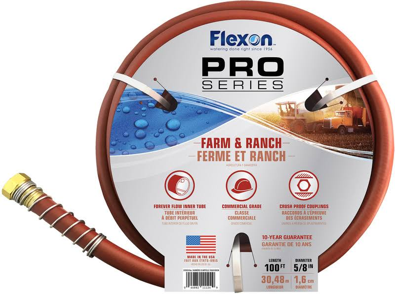 "Flexon Industries FA58100 Farm Hose - 5/8""x100'"