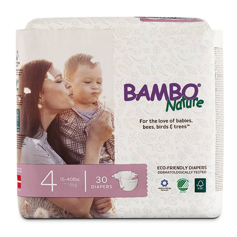 Bambo Nature Premium Baby Diapers - Size 4, 30ct