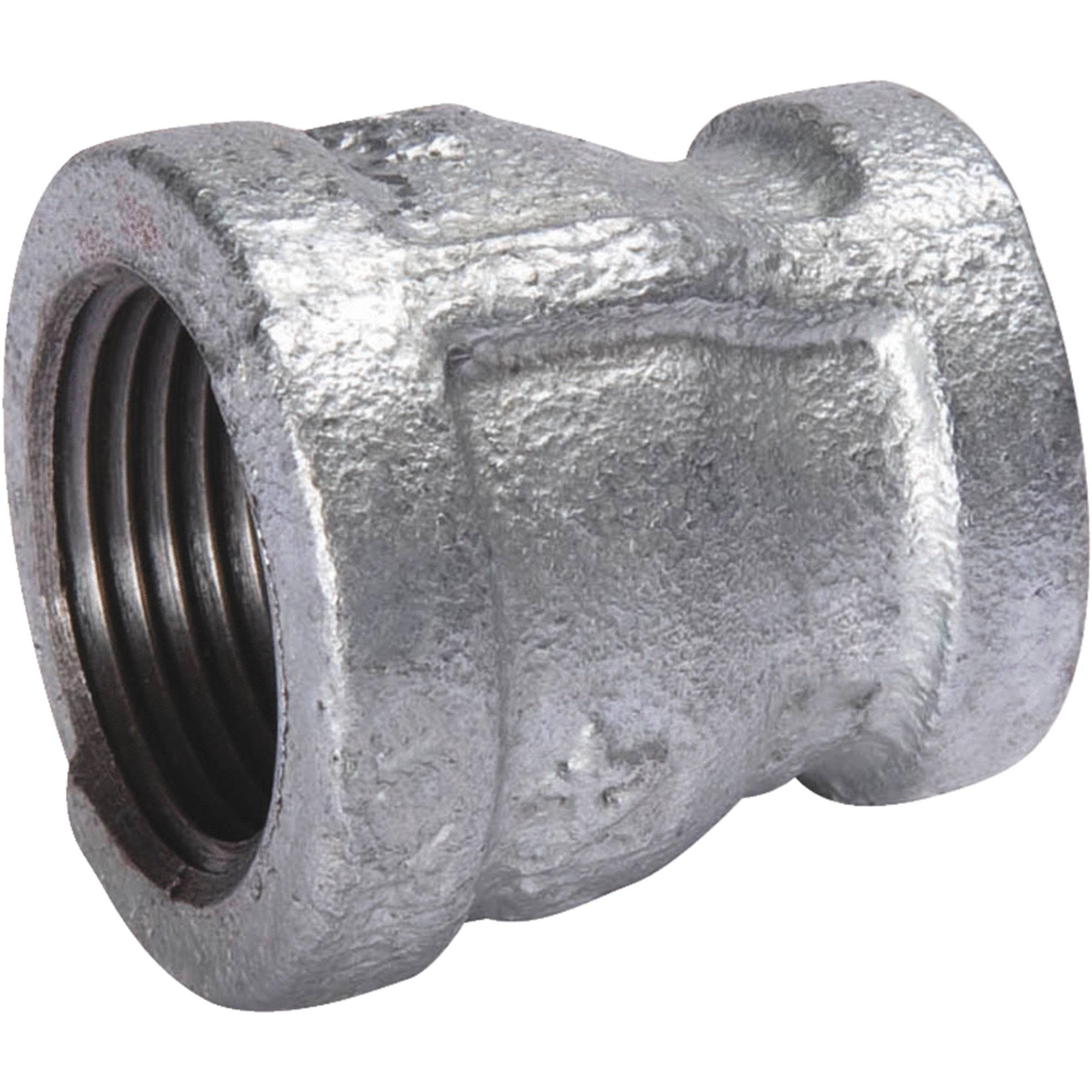 B&K Malleable Galvanized Iron Reducing Coupling - 3/8in FIP x 1/4in FIP