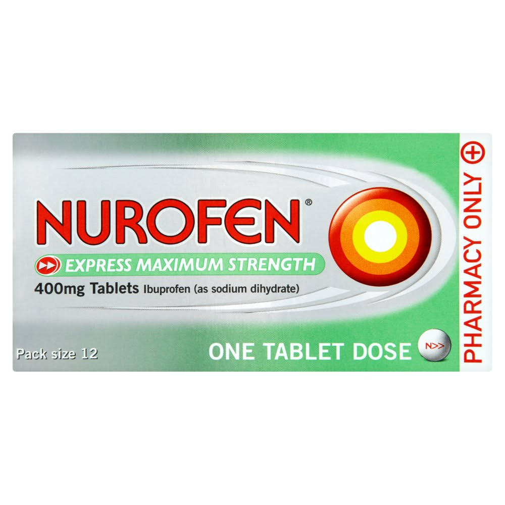 Nurofen Express Maximum Strength Ibuprofen - 400mg, 12 Pack