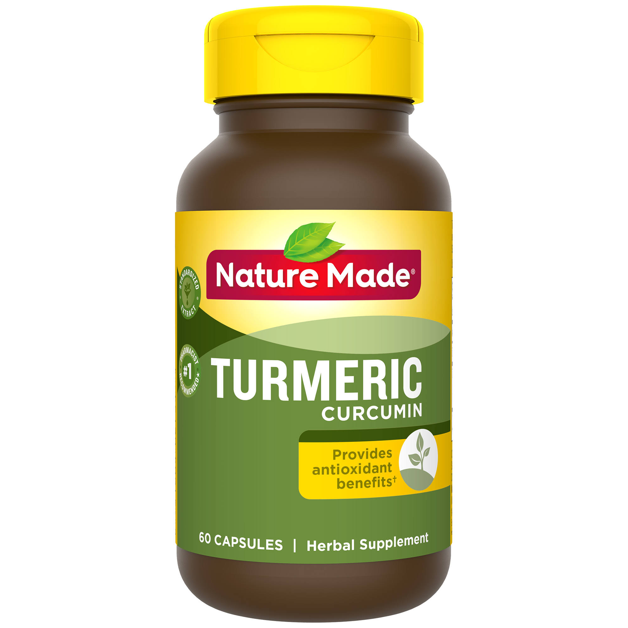Nature Made Turmeric Curcumin Herbal Supplement Capsules - 60 Count, 500mg