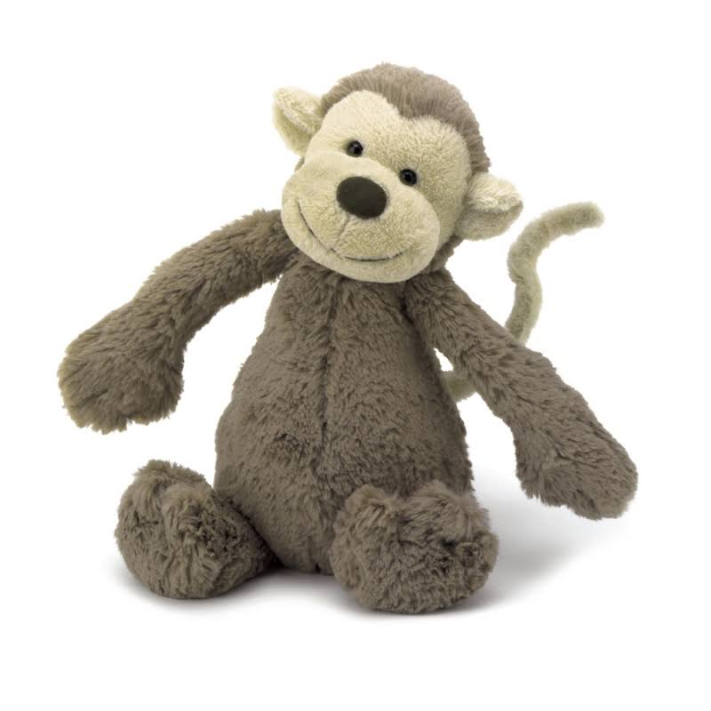 Jellycat Bashful Monkey Plush - 7""