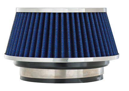 Spectre Performance 8166 Universal Clamp On Air Filter - Round Tapered, Blue, Small